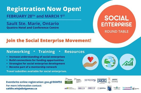 18.02.01.b – Social Enterprise Round Table Conference Registration Now Open (email)